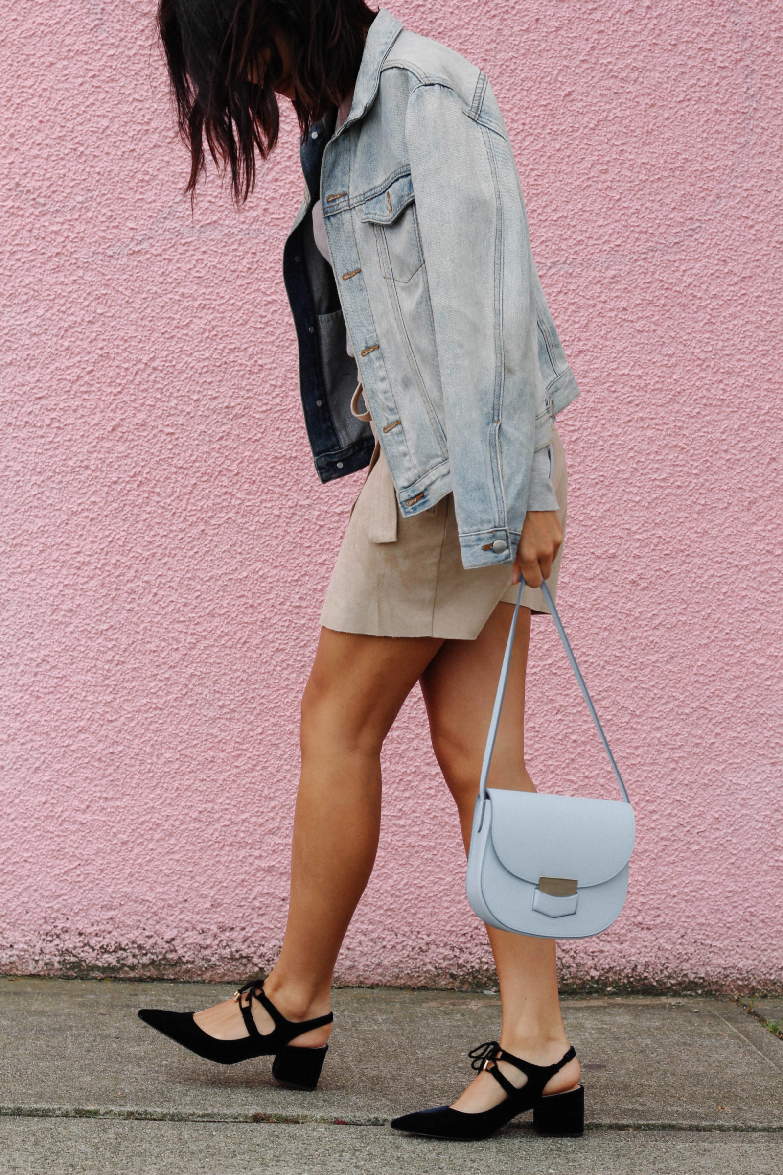 what the fung celine trotteur bag suede mini skirt