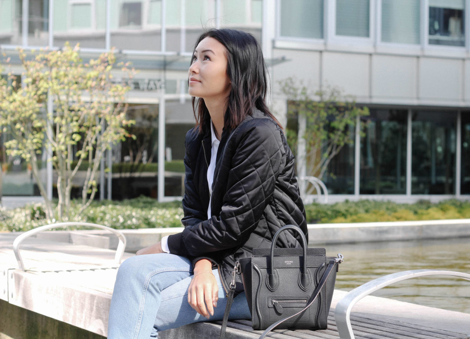 what the fung quilted bomber flattering denim slp booties celine nano equipment blouse